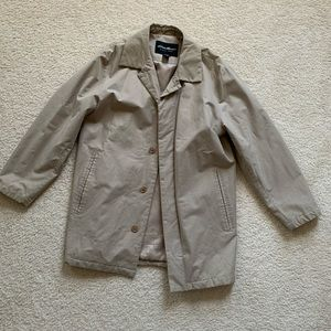 Eddie Bauer Tan Brown Trench Coat Cotton Small